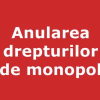 Anularea drepturilor de monopol