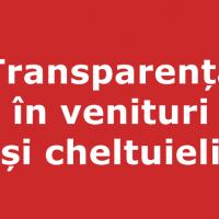 Transparență în venituri și cheltuieli