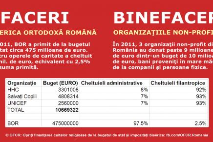 Afaceri și binefaceri: BOR vs ONG
