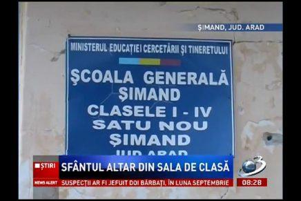 Școală generală transformată în biserică ortodoxă. Educația, aruncată la GUNOI.