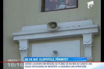 Sunetul scos de boxele bisericii din Mediaş, infern pentru locuitori