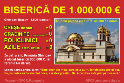 Ghimbav, oraș cu biserică de 1.000.000 €, dar fără policlinică, creșă sau azil de bătrâni