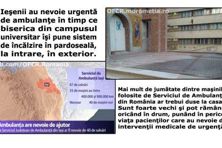 România, cu ambulanțe medievale, dar cu biserici încălzite prin pardoseală