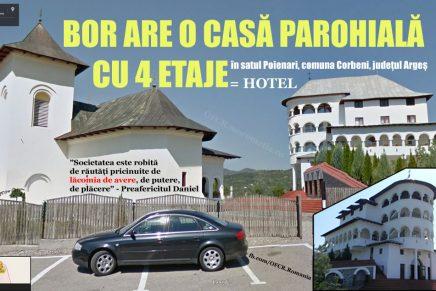 BOR: Casă parohială cu 4 etaje, comuna Corbeni, județul Argeș