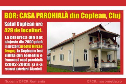 BOR: Casa parohială din satul Coplean, Cluj. Preot Mircea Dragoş